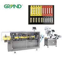Automatic liquid plastic ampoule forming filling sealing machine with labeling machine