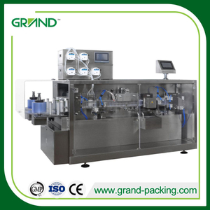 Mono dose disinfectant liquid plastic ampoule forming filling and sealing machine