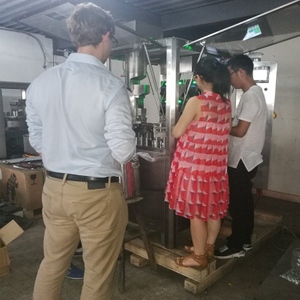 Brazil customer testing and checking liquid capsule filling machine he purchased