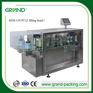 Automatic small dosage plastic ampoule filling and sealing machine for liquid